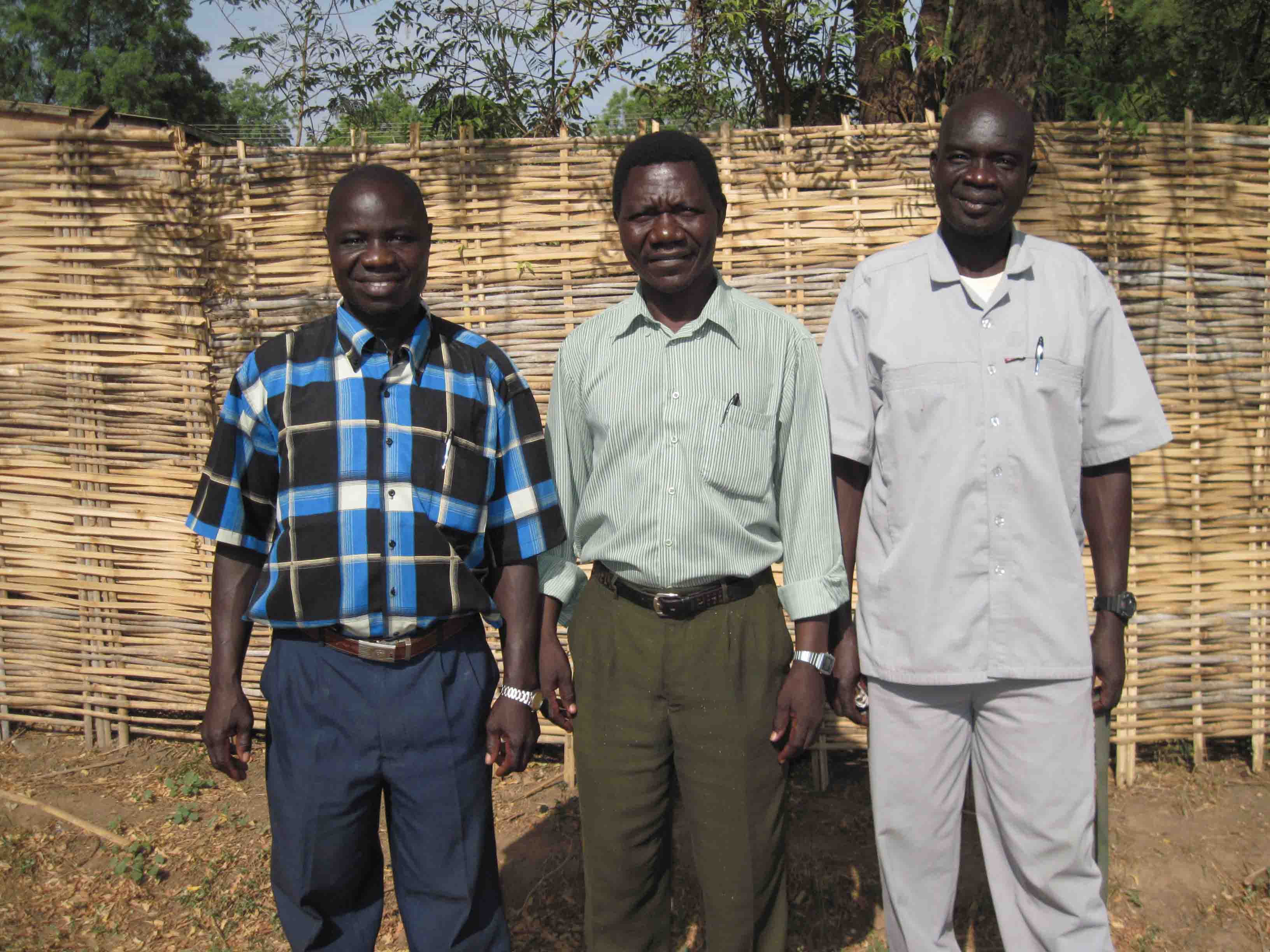 2010: Translators Ezekiah Dada, Enos Dada and Isaac Kenyi working in Juba, South Sudan.