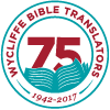 Wycliffe's 75th Anniversary logo