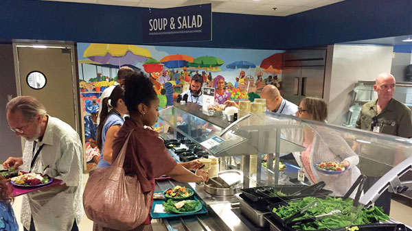 Soup and Salad Bar at the Cafe