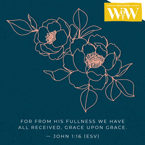 'For from His fullness we have all received, grace upon grace.' - John 1:16 (ESV)