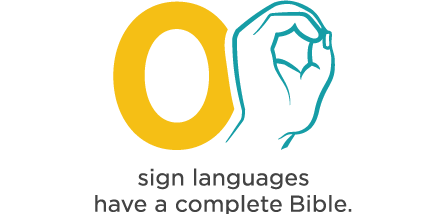 infographic - zero sign languages have a full Bible
