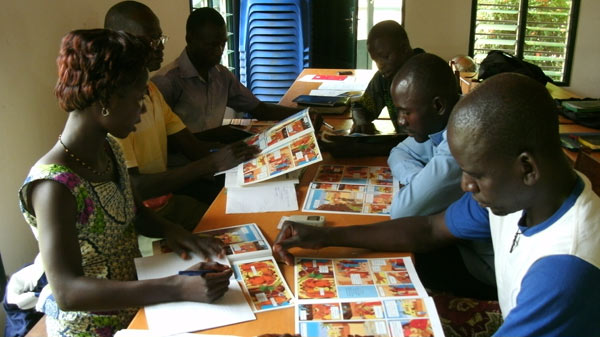 Editing the Jesus Messiah Picture Book in Togo