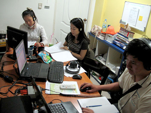 Northern Thai audiotechs and proofreaders