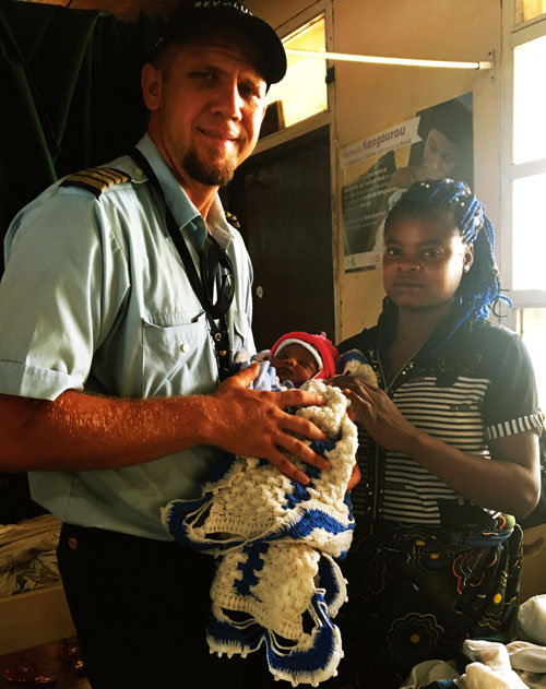 Mark Spangler flew this mother to a hospital just in time for her to give birth.
