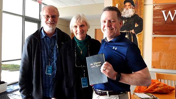 Sam Anderson and the Webers at Wycliffe USA's Orlando headquarters