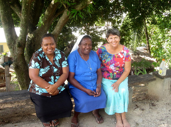 Cynthia Rollins with local Solomon Islands colleagues