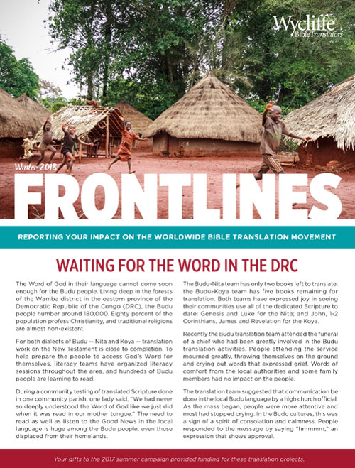 Waiting for the Word in DRC | Wycliffe Bible Translators
