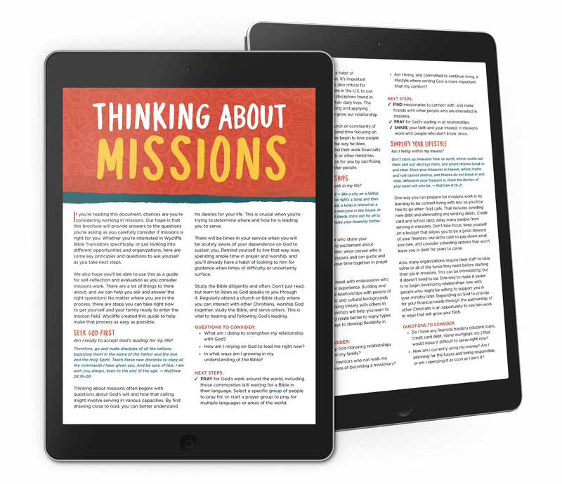 Thinking About Missions PDF
