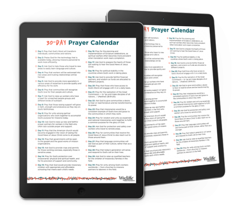Pray Effectively With Our New 30-Day Prayer Calendar