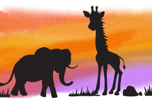 Paint an African Sunset With Your Family